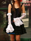 PUNK KERA Gothic Lolita Lace arm warmer Glovers white