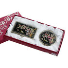 MOP Pink Flower Business Card Case Compact Cosmetic Makeup Mirror Women Gift Set
