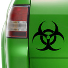 BIOHAZARD STICKER, VINYL CAR DECAL, 215mm X 200mm