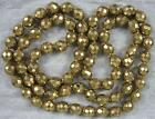 1940's Necklace~Real Nice Gold Plated Black Glass Beads