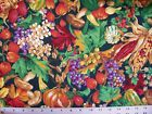 Pumpkins, Leaves & Corn Fall Mix Print Fabric BTY
