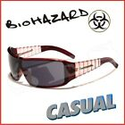 Biohazard Sunglasses Shades Mens Casual Red