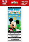 6 MICKEY MOUSE CLUBHOUSE Birthday TICKET Invitations