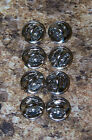 silver colored Pinback pin post clutch backs butterfly clasp LOT OF 8 E5101