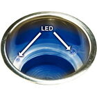 3-5/8 Inch Recessed Mount Blue LED Lighted Stainless Steel Drink Holder