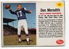 1962 Post Football Card #142 Don Meredith-Dallas Cowboys