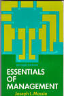 ESSENTIALS of MANAGEMENT: Joseph L Massie 2nd Ed., PB V