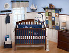 NEW Nautical Kids Blake Window Valance Nursery 56x15 ~ Navy, blue, Beige Stripe