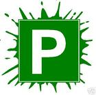 P plate sticker / decal Splash green pair