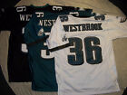 BRIAN WESTBROOK #36 PHILADELPHIA EAGLES NFL PREMIER JERSEY FREE SHIPPING!