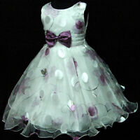 GBPU3211 X'Mas Purple Wedding Party Flower Girls Dress Sz 2,3,4,5,6,7,8,9,10 Y