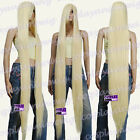 150cm light golden blonde Heat Styleable Extra Long Cosplay Wigs 81_LGB