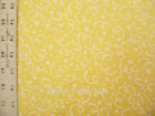 Holiday Basic Fabric in Gold with White Swirl Design BTY