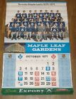 export A calendar toronto maple leafs 1970-71