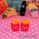 FUNKY RED FRENCH FRIES EARRINGS CUTE KITSCH CHIPS FAST FOOD RETRO JUNK KAWAII UK