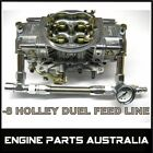 -8 HOLLEY DUEL FUEL RAIL INLET LINE KIT BRAIDED WITH 15PS1 FUEL PRESSURE GAUGE
