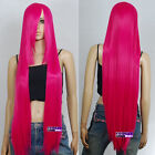 100cm Hot Rose Pink Heat Styleable Long Cosplay Wigs 85_HRP