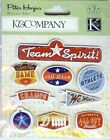 K & Co Metal Art SPORTS EMBOSSED 9 pcs Athlete All Star
