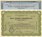 Bond Stores lot of 2 stock certificates Washington D.C. Maryland