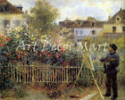 Monet Painting At Argenteuil - CANVAS OR PRINT WALL ART