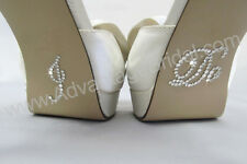 I Do Shoe Stickers for Bridal Shoes - Rhinestone Shoe Decals - 10 Crystal Colors