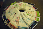 3 Personalized / Monogrammed Burp Cloths Free Shipping