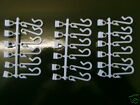 18 REPLACEMENT SHOWER CURTAIN HOOKS & RUNNERS WHITE