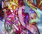 RIBBON OFF CUTS - 25 METRES OF ASSORTED COLOURS & SIZES, CARDS,WEDDINGS, CRAFTS