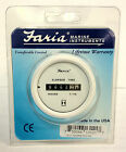 NEW Faria Boat Hour Meter Gauge Dress White instrument inboards & I/O FAR 13121