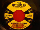 ROSEMARY CLOONEY w FRANK DE VOL & ORCH You Don't Know Him/Surprise! 45