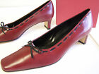 WOMAN'S RED CALF LEATHER VANELI PUMPS XLNT COND NEVER WORN SIZE 8 N ADELICE BOX