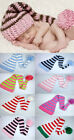 Cute Newborn Baby Crochet Knit X-Mas Beanie Hat Girl Boy New 0-6 Month 8 Color