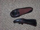 womens naturalizer bolla black leather red stitched slip on shoes size 8 n