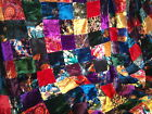 15' COLORFUL VELVET PATCHWORK QUILT TOP FABRIC - Classic Victorian Look