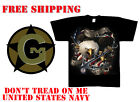 DONT TREAD ON ME Tee Shirt US NAVY 100% Cotton New T shirt Small - 3XL