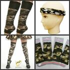 ARMY CAMOUFLAGE HEADBAND,LEGWARMERS,SOCKS,WRISTBAND FANCY DRESS ACCESSORIES
