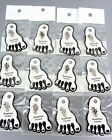 Sparkle 12 PC Austrian Crystals SEA HORSE Invisible PETITE Toe Rings