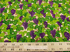 Troy Home Grown Granola Girl Debbie Field Grapes Vines Beige COTTON Fabric BTY