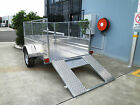 RIDE ON - QUAD BIKE - ALUMINIUM TRAILER 8 x 5 WITH RAMP - LIGHT AND DURABLE