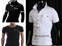 New Mens Short Sleeve Polo Shirt/T-Shirt 100% Cotton UK size S/M/L/XL/XXL