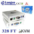 328FT/100m Auto Remote VGA KVM AV Over Cat5 Cat5e RJ45 Extender Extension Extend