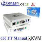 656 FT 200m Manual Remote KVM Over Cat5 Cat5e RJ45 IP Extender Extension Extend