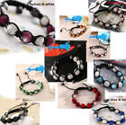 Shamballa 9X Crystal Paved Balls Friendship Hot Fashion Bracelet For Women Girl