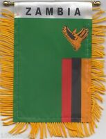 Zambia Flag Hanging Car Pennant for Car Window or Rearview Mirror