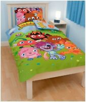 Moshi Monsters Single Twin Bedding Duvet Quilt Doona Cover & Pillowcase Set New