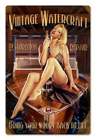 WOODY GREG HILDEBRANDT VINTAGE METAL SIGN PINUP SEXY HAND SIGNED BY GREG - GIFT