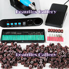Pro Full Electric Nail Art Drill 36 Bits File Acrylic Tool Sanding Bands Kit 502