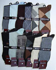 Mens Dress Socks - 12 Pairs - Top Quality Cotton Material 3 Selections 1 Dozen