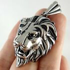 Men's Lion 316L Stainless Steel Pendant Necklace Chain Cool