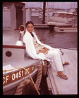ALI MACGRAW LOVE STORY PHOTO SHOOT ON YACHT BOAT 4X5 VINTAGE TRANSPARENCY SLIDE